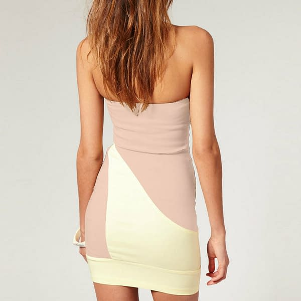 Fitted Strapless Bodycon Cocktail Party Clubwear Mini Dress co9660 Apricot 400775139733 2