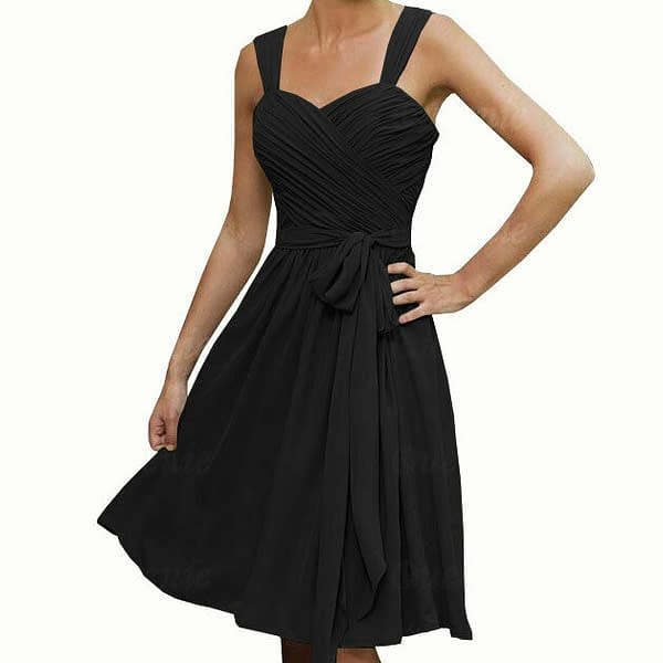 Sweetheart Pleated Chiffon Cocktail Evening Party Bridesmaid Dress Turquoise 172537100195 2