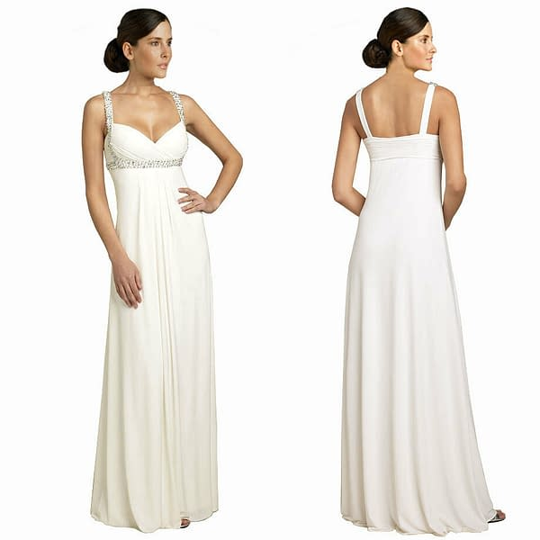 Variation of Glittery amp Elegant Beaded Formal Evening Gown Bridesmaid Dress Ivory Off White 171376332756 2719
