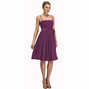 Sexy Knee Length Cocktail Party Dress Chiffon Violet
