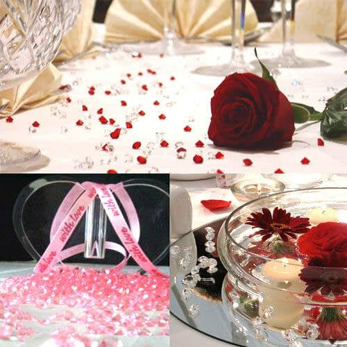 1000x 6mm Acrylic Crystal Diamond Confetti Table Scatters Clear Vase Fillers 191219527245 2