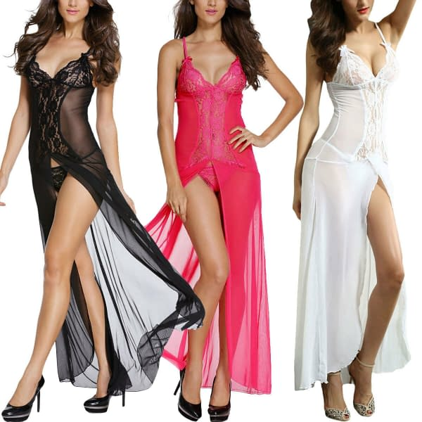 Bride to Be White Long Sleepwear V Neck Night Gown Lingerie 6143 M L XL 191902995000