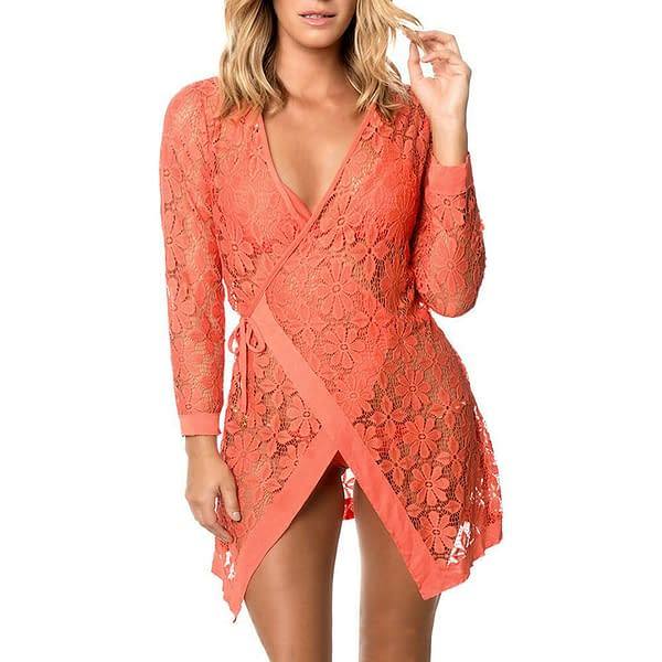 Variation of Beautiful Tie up Long Sleeves Lace Bathing Suit Sunmmer Beachwear Cover Up 2127 192081244457 6e06
