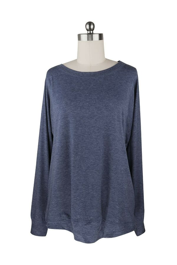 CWomen Pullover Round Neck Long Sleeve Casual Loose Blouse Tee T shirt Tunic Top 402575942142 8